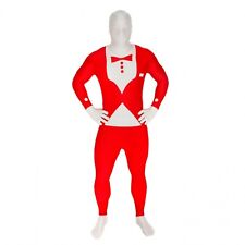 """Red Tuxedo Morphsuit for Adults size XL 5'10""""-6'3"""" New by Original Morphsuit"""