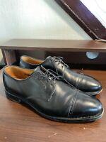 Allen Edmonds Clifton Black Cap Toe Leather Dress Shoes Bluchers Men's sz 10.5 D