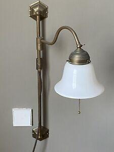 Wandleuchte, Wandlampe Original Berliner Messing