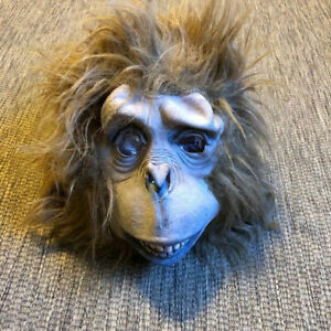 Adult Ape Monkey Rubber Halloween Mask Gorilla Planet Of The Apes Costume Scary