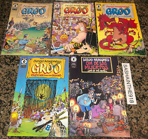 Groo Sergio Aragones Lot of 5 Comics 1998-02 VF Dark Horse Dia Muertos Death Tax