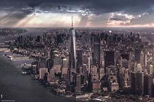 NEW YORK CITY - UNDER STORM POSTER - 24x36 NYC MANHATTAN CLOUDS 5618