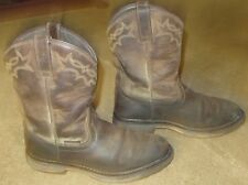 Mens ARIAT Workhog Pull On H2O Brown Leather Work Boots sz 10 D
