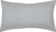 King Pillow Sham Denim Blue Ticking Stripe Cotton Farmhouse Bedding Sawyer Mill