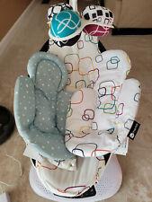 4moms mamaRoo 4 Bluetooth Plush Baby Swing with 2 Newborn Inserts