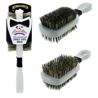 Classic Wave Double Sided Wave Hard Soft Natural Boar Bristle Hair Brush 361 NEW