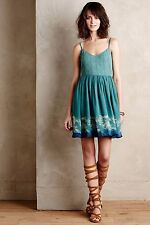 NEW ANTHROPOLOGIE Watergarden Dress 12 L Large by Floreat Koi Fish