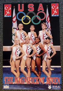 USA Gymnastics Atlanta Olympics 1996 MAGNIFICENT SEVEN POSTER - Moceanu, Strug++