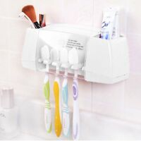 Toothpaste Toothbrush Holder Bathroom Stand Wall Mount Stand Storage Rack US