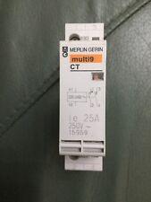 MERLIN GERIN 25A CT CONTACTOR LE 15960 250V 1 POLE MULTI9