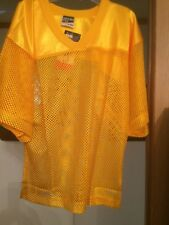 Adams U.S.A Adult Porthole Mesh Football Practice Jersey Nwt Yellow
