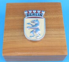 """Seltene Alte Holzschatulle für Abzeichen """" BERLIN """" Logo Etui Schmuck 60er"""