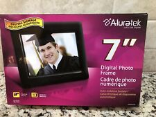 """Aluratek 7"""" Digital Picture Frame With Auto Slideshow Feature ADPF07SF USB Wow"""