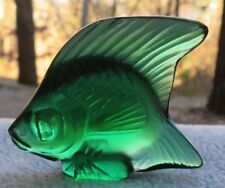 Lalique Crystal Green Poisson Angel Fish Figurine (#30023) France Mint