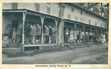 c1920 Ackermans, Sandy Point, New York Postcard b