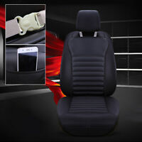 PU Leather Buckwheat Hull Car Front Seat Cover Cushion Surround Breathable B AU5