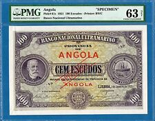 Angola, 100 Escudos, 1921, Specimen, UNC-PMG63, P61s