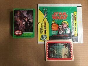 1977 Star Wars Series 4 Complete Card & Sticker & Wrapper(66/11) Excellent