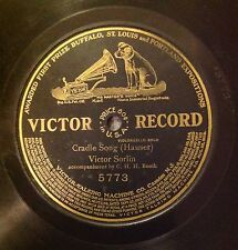 78 RPM RECORD -SINGLE SIDED  -CRADLE SONG -Victor Record #5773 -V. Sorlin -1910