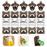 Multi Wall Mount Metal Bar Club Wine Beer Soda Glass Cap Bottle Opener Open Tool
