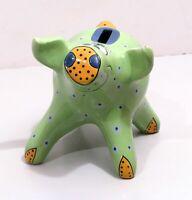 Piggy Bank Pig Signed Pati Bella Casa Ganz Porcelain Vintage