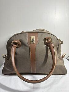 London Fog Oxford Tweed Travel Satchel Carry On Bag Style 7000 Duffel