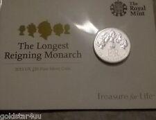 QE11 2015  £20 ,Twenty Pound 0.999 Fine Silver,Longest Reigning Monarch BUNC