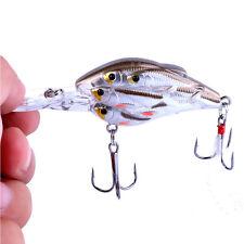 ABS Rattles Wobbler Crank Bait Fishing Lures Hooks Crankbait Tackle 7.5cm/9g