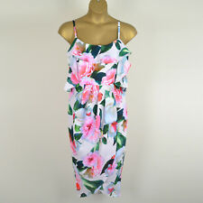 Ex EVANS City Chic Floral Strappy Tulip Dress Size 14 16