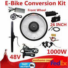 "E Bike 1000W 48V Conversion Kit 26"" inch Front Wheel Motor Hub harness wires NEW"