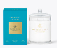 NEW Glasshouse Midnight In Milan 380g Soy Candle Triple Scented Natural Handmade