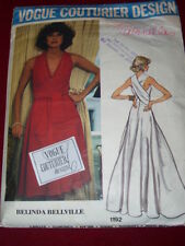 VOGUE COUTURIER DESIGN #1192 - BELINDA BELLVILLE-LADIES GOWN PATTERN w/LABEL  12