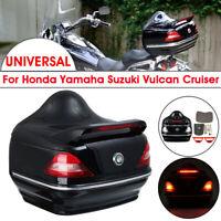 Motorcycle Rear Trunk Box Luggage W/ Turn Light Brakcet For Honda Yamaha