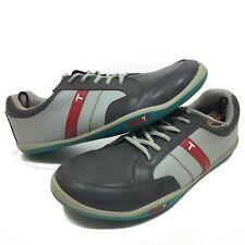 True Linkswear Mens Golf Shoes 11.5 Gray Leather Waterproof