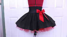 NEW HANDMADE GIRLS BLACK / RED TUTU MINI SKIRT IRISH DANCE SCHOOL 12 - 14 YRS