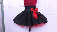 NEW HANDMADE GIRLS BLACK / RED TUTU MINI SKIRT IRISH DANCE SCHOOL 6 - 8 YRS