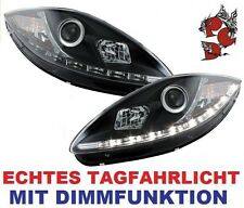 ORIGINAL DECTANE LED TAGFAHRLICHT SCHEINWERFER SEAT LEON 1P ALTEA SCHWARZ 05-09