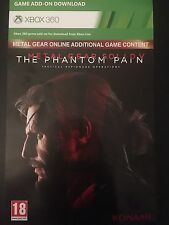 METAL GEAR SOLID ONLINE XBOX 360 DAY 1 ADDITIONAL GAME CONTENT