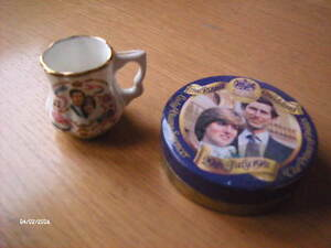 St Georges fine bone china miniature tankard Charles&Diana Birth of first child