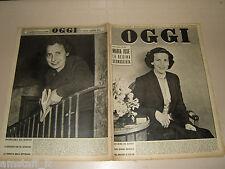 OGGI=1953/18=NICOLA ROSSI LEMENI=SILVIA DA PONT=CESARE COCCHI=SUSTINENTE=FABRA I