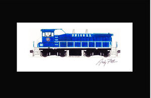 "Union Railroad MP15 11""x17"" Matted Print Andy Fletcher signed"