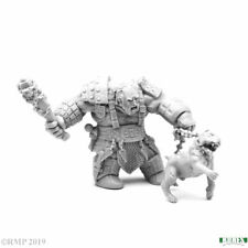 Reaper Fire Giant Huntsman with Hell Hound #77457 Unpainted Gray Plastic Figure