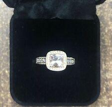 LeVian 14K Strawberry Gold Peach MorganiteChocolate White Diamond Ring Size 9.75