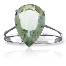 5 CTW Platinum Plated 925 Sterling Silver Sensuality Green Amethyst Ring