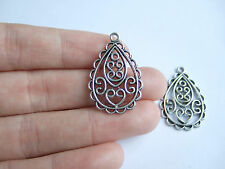 10 Tibetan Silver Water Drop Earrings Charms Pendants Beads For Jewellery Making