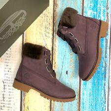 Timberland Women's Waterproof 6 Inch Purple Boots