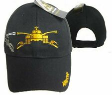 U.S. ARMY Armor Tank Swords Shadow Black Embroidered Cap Hat (RAM)