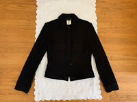 D&G Dolce & Gabbana Womens sz 40 US 6 black wool blend jacket  Made in Italy