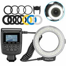 Macro Flash Speedlite Luce LED Anulare Per Nikon Canon Olympus DSLR Camera