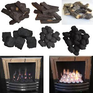 New Gas Fire Replacement Coal Pebbles Logs Stones Ceramic UK Made Coals